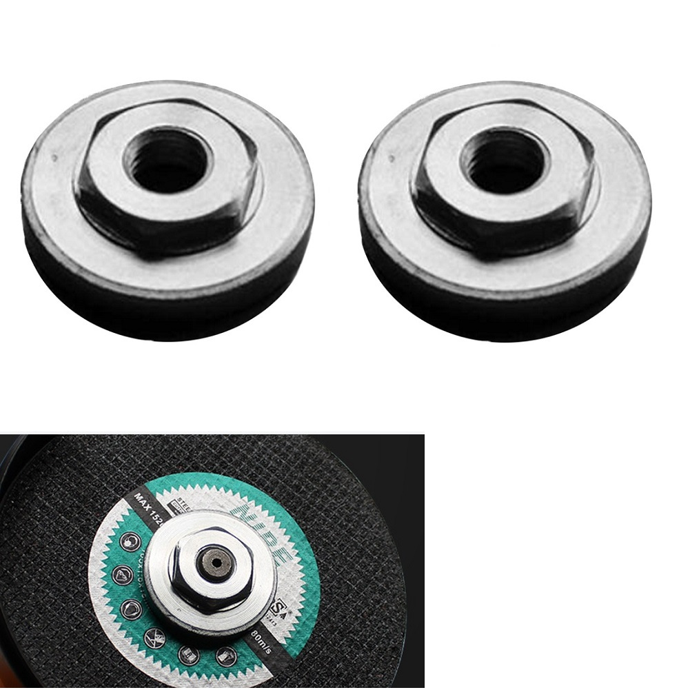 2Pcs Hex Nuts Replacement For Universal 100 Type Angle Grinder Modification Accessories Match With An Opening Of 17mm Wrench