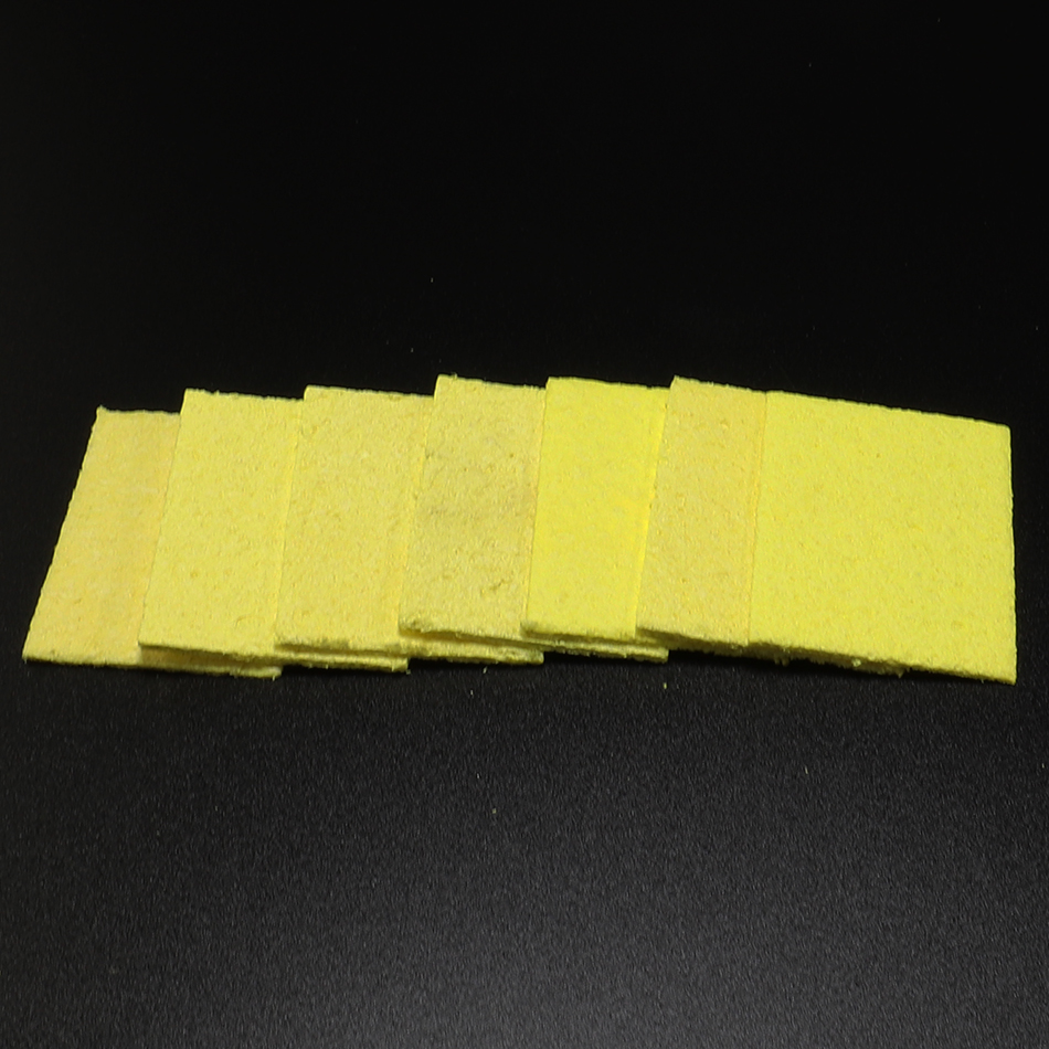 10pcs Yellow Cleaning Sponge Cleaner For Enduring Solder Welding Station Electric Soldering Iron Tips Clean Sponge Repair Tools