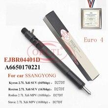 ORLTL wspólne wtryskiwacz do silników wysokoprężnych EJBR04401D A6650170221 6650170221 dla Ssangyong Rexton 2.7L 2008 Xdi SUV (163bhp) D27DT Euro 4