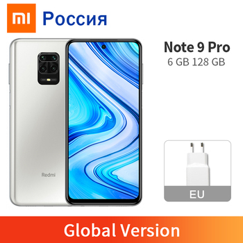 Global Version Xiaomi Redmi Note 9 Pro 6GB 128GB Cellphone Snapdragon 720G 64MP Quad Camera 6.67 1