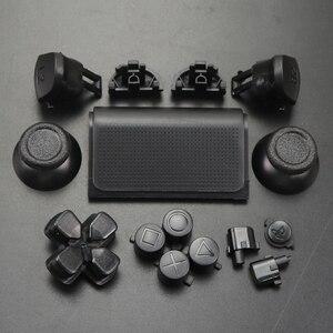 Image 5 - YuXi ensemble chromé pour Dualshock 4 PS4 PRO contrôleur mince jds 040 jds 040 Dpad L1 R1 L2 R2 boutons de déclenchement poignées analogiques