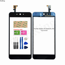 5.5'' Mobile Touch Screen Glass For Blu Grand LTE Grand XL 4G Touch Screen Digitizer Panel Lens Sensor Tools 3M Glue