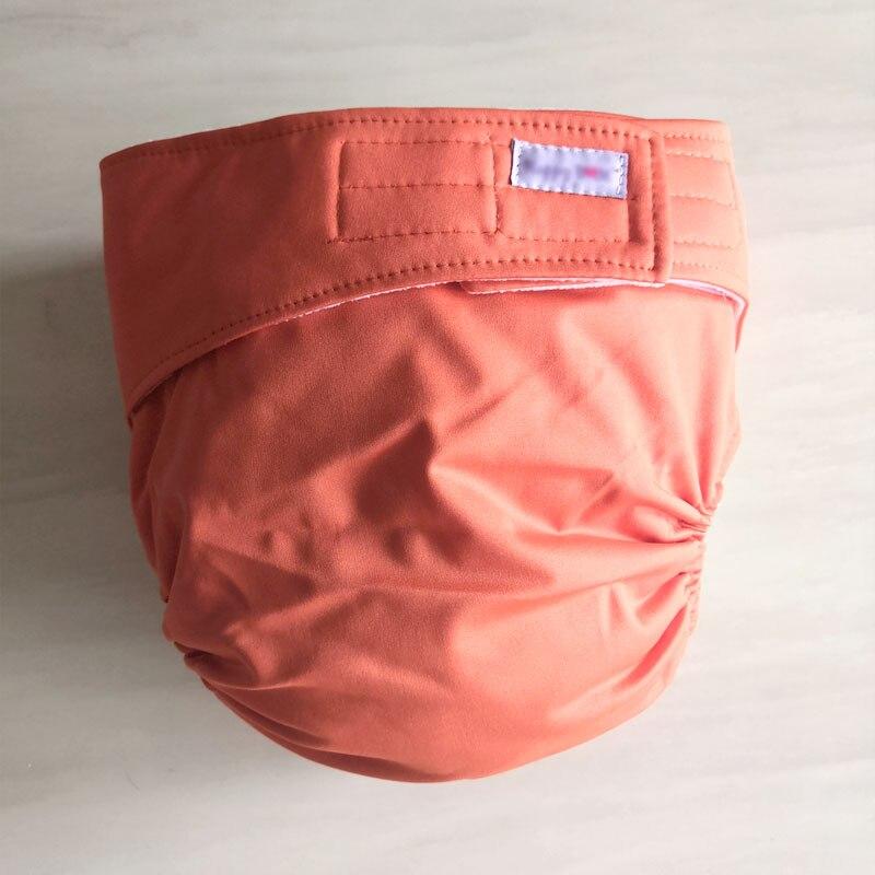 Многоразовые подгузники для взрослых для пожилых людей и людей с ограниченными возможностями, большие размеры, регулируемые термополиуретановые пальто, водонепроницаемая одежда для недержания при недержании - Цвет: orange
