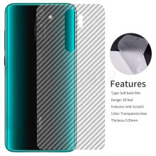 Screen Protector 3D Clear Carbon Fiber Back Film Stickers For Xiaomi Mi 8 A2 Lite Poco Pocophone f1 Redmi Note 7 6 8 Pro Global(China)