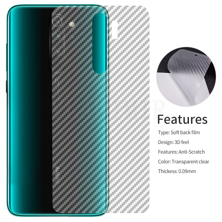 Screen Protector 3D Clear Carbon Fiber Back Film <font><b>Stickers</b></font> For Xiaomi Mi 8 A2 Lite Poco <font><b>Pocophone</b></font> <font><b>f1</b></font> Redmi Note 7 6 8 Pro Global image