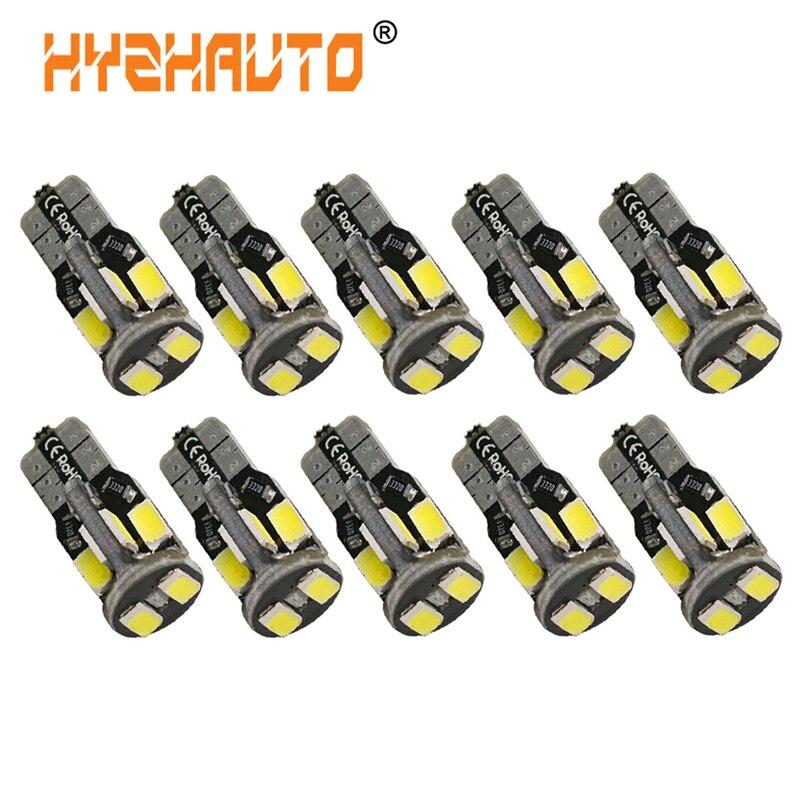 HYZHAUTO 10 шт. T10 W5W светодиодный Canbus Белый 5630 10-SMD 192 168 светодиодный светильник для салона автомобиля Купол/дверь/Readlight 12 В