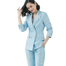 New Women Office Wear Pant Suits High Quality OL Red Blazer Suit
