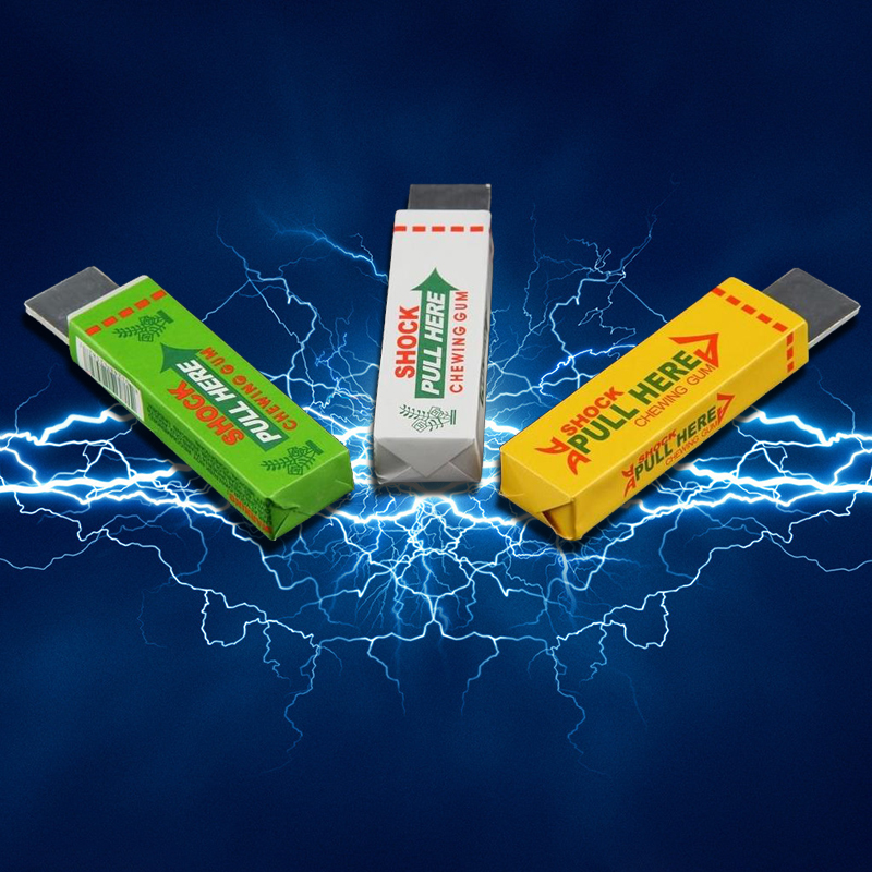 Electric Shocking Hand Chewing Gum Shocker Prank Trick Toy Joke Novelty Toys Anti-stress Shock Gaget Gaps Toys