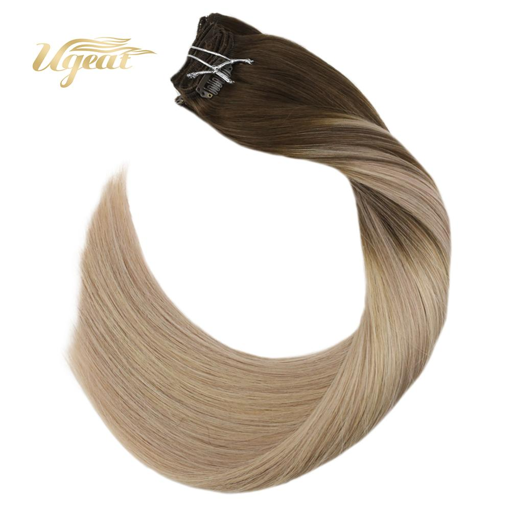 Ugeat Clip In Hair Extensions Full Head Clip Ins 14-24
