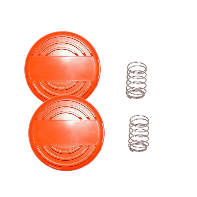 2 Pack Spool Cap & Spring Parts For Black And Decker Trimmer # 385022-03N-2PK