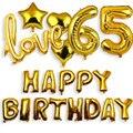 18 20 21 25 30 35 40 50 60 65 70 80 90 Набор для украшения дня рождения, фольгированные воздушные шары с днем рождения, фотоэлемент для взрослых 83D