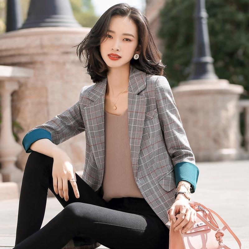 Spring 2020 Women's Jacket Suit Casual Korean High Quality Ladies Blazer Female Office Fashion Jacket Feminine Small Suit