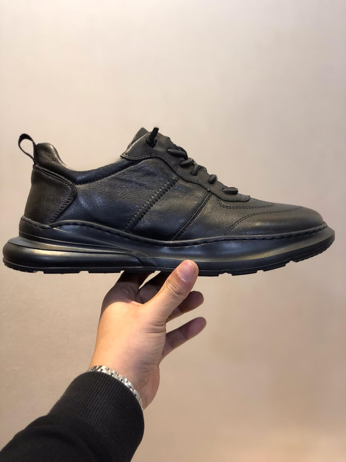 Ecco Fall Winter New Men Leather Shoes New Oxygen Fitness Men's Shoes Work Shoes Men's Casual Shoes 39-44