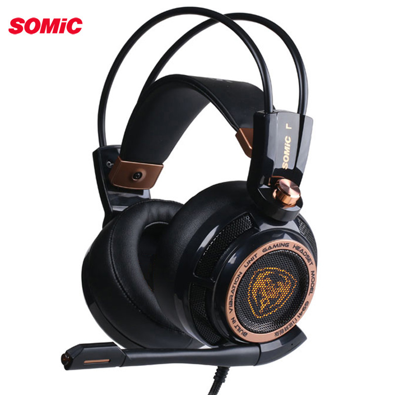 Somic Upgrade G941 Aktive Noise Cancelling 7,1 Virtuelle Surround Sound USB Gaming Headset mit <font><b>Mic</b></font> Vibrierende für <font><b>PC</b></font> Laptop image