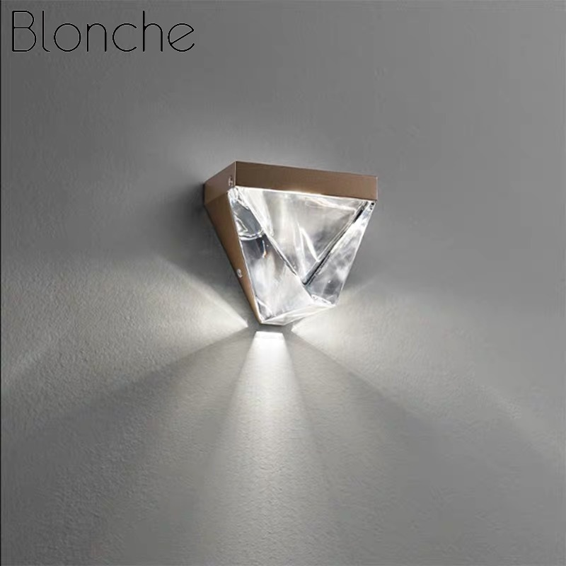 Blonche Modern LED Wall Lamp Crystal Gold Wall Sconce Lights For Bedroom Living Room Restaurant Lighting Loft Fixtures Luminaire