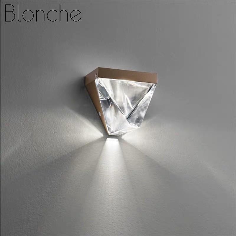 Blonche Moderne LED Wandlamp Crystal Gold Wandkandelaar Verlichting voor Slaapkamer Woonkamer Restaurant Verlichting Loft Armaturen Armatuur