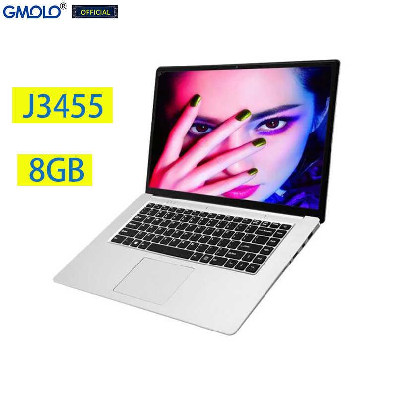 Gmolo 15.6 J3455 Quad Core Bàn Chơi 8GB 512 GB/256 GB/128G SSD 15.6 Inch 1920*1080 IPS HD Màn Hình Nga Laptop Máy Tính