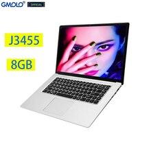 Gmolo 15.6 j3455 quad core gaming, notebook 8gb 512gb/256gb/128g ssd 15.6 polegadas tela hd 1920*1080 ips computador portátil russo
