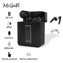 MiGueR HX03 TWS 5.0 Headset Wireless MINI HIFI Stereo technology Surper Bass Touch Key With Charging Box 400mAH In Stock