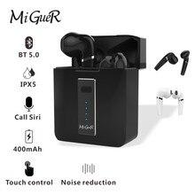 Miguer HX03 tws 5.0ヘッドセットワイヤレスミニハイファイステレオ技術surper低音タッチキーと充電ボックス400内在庫