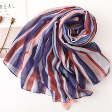 2019 Women Voile Scarf Boho Ethnic Style Autumn Fashion Shawl Wraps High Quality Ponchos and Capes Luxury Brand Head