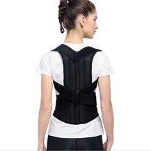 AOFEITE Adjustable Back Posture Corrector Brace Support Belt Spine Back Shoulder Lumbar Posture Correction B003 цена
