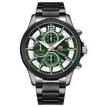 MINI FOCUS Luxury Brand Men Watches Stainless Steel 30m Waterproof Multifunction Sport Clock Mens Wristwatch Quartz montre homme