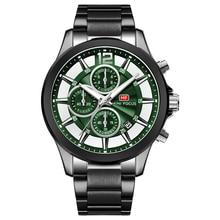 MINI foco marca de lujo relojes de hombre Acero inoxidable 30m resistente al agua reloj deportivo multifunción para hombre reloj de pulsera de cuarzo montre homme