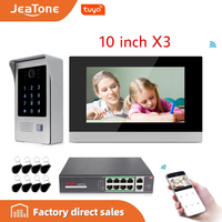 10 inch WIFI IP Video Door Phone Intercom Door Bell Villa Building Access Control System Touch Screen Motion Detection 1 to 3