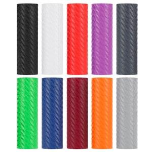 10 cm * 127 cm 3D carbon fiber car color film body sticker car decoration stickers Car Accessories 10 colors optional