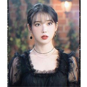 Image 4 - Черное платье с поясом для женщин DEL LUNA Hotel same IU платье летние корейские осенние подарки на день рождения Рождественская одежда