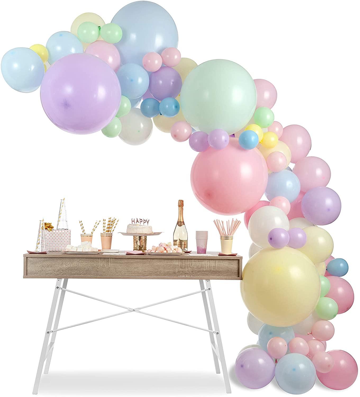 104 Uds unicornio globo set de guirnaldas de arco de globos temática Baby Shower fiesta Arco Iris cumpleaños Fondo Decoración