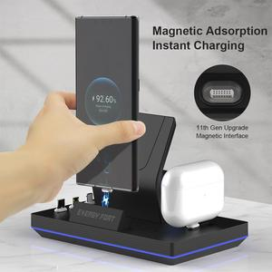 Image 2 - 2020 New 11th Gen 3 in 1 65W Magnetic Fast Wireless Charging Dock ENERGY FORT For Huawei 5A Quick Watch Headset  charger GT2