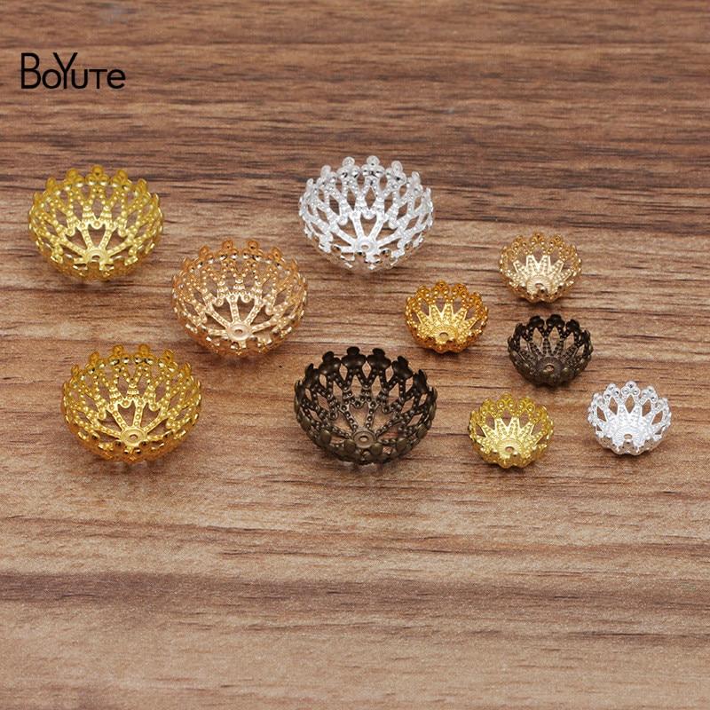 Бусины для бижутерии ручной работы BoYuTe, металлические латунные филигранью 12 мм 20 мм, 100 шт./лот