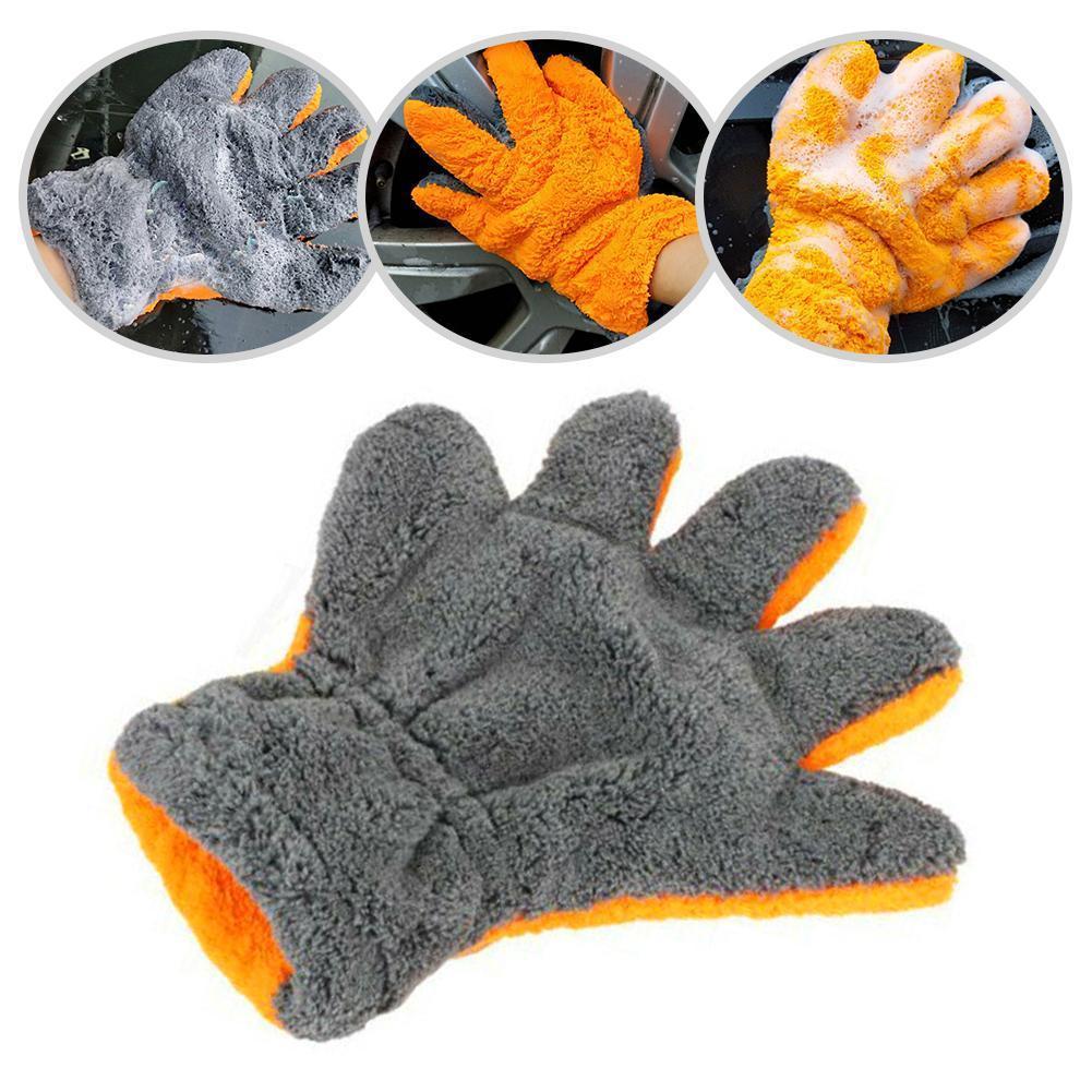 Высококачественные перчатки из микрофибры для мытья автомобиля, перчатки для ухода за автомобилем, мягкий Сверхтонкий инструмент для мыть...