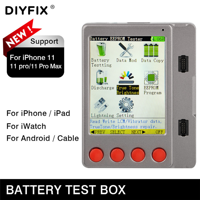 Latest Universal Battery LCD Screen Cable Tester BOX For IPhone 11Pro Android IWatch Ipad Data Line Headphone Charging Cable Box