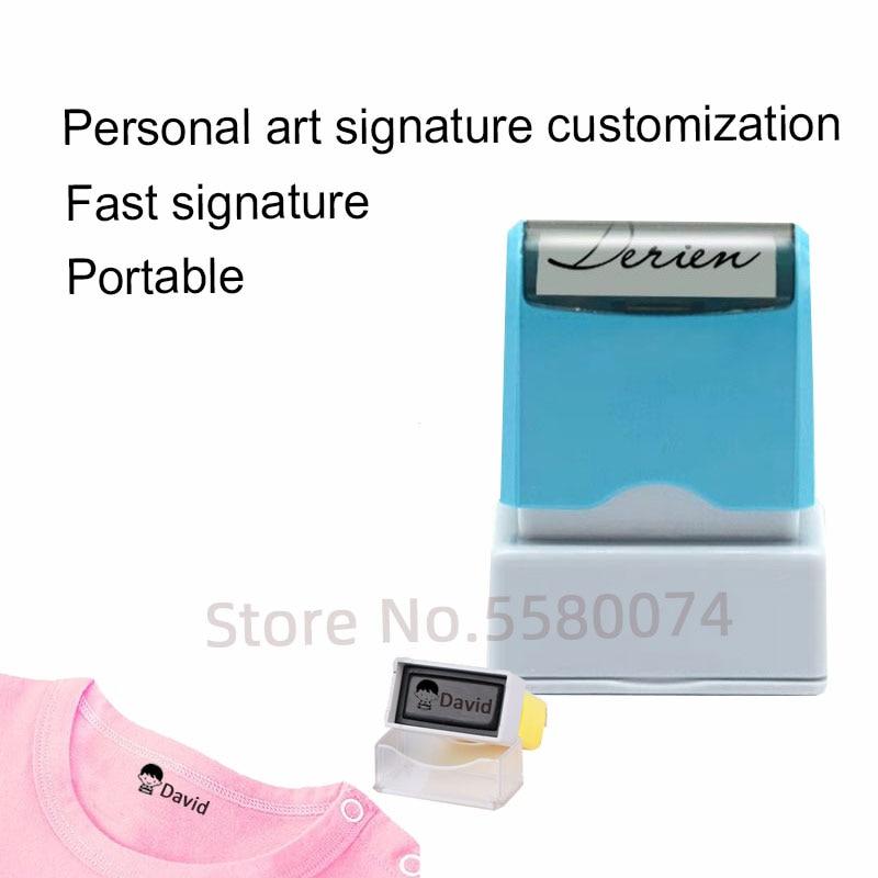 Personalized Customized Name Stamp DIY Baby Name Seal Security Name Stamp Sticker Seal Sticker Support Handwriting Customiza