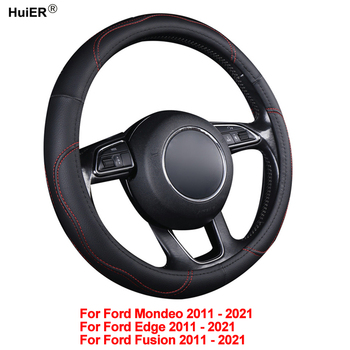 Auto Car Steering Wheel Cover Wrap Non-slip For Ford Mondeo Edge Fusion 2011 2012 2013 2014 2015 2016 2017 2018 2019 2020 2021 - discount item  31% OFF Interior Accessories