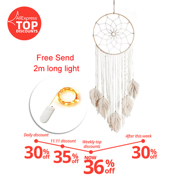 baby dream catcher nordic style decor decoration home children's room nursery decor=wind chimes dreamcatcher - discount item  31% OFF Home Decor