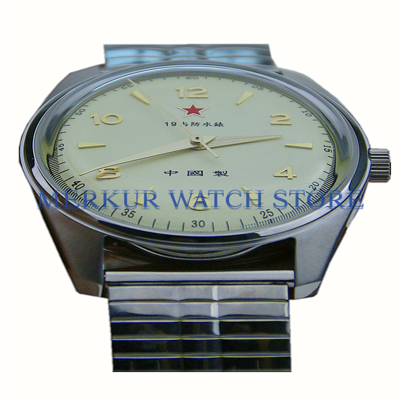 AD30 China First Watch  Reissue Seagull Movement 1963 D304 Hand Wind Vintage Retro Handwind  Mechanical Dress Watch VCM