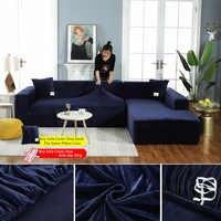 Plüsch stoff sofa abdeckung Samt sofa deckt Nicht-slip all-inclusive-Schutzhülle für Wohnzimmer Ecke Sofa Abdeckung mit kissenbezug