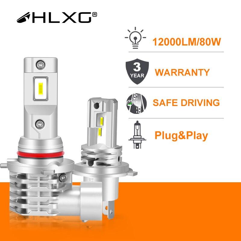 CSP h7 светодиодный H4 лампы для автомобилей головной светильник лампы 9012 HIR2 светодиодный H8 H11 туман светильник HB3 HB4 4300K 6000K 12000LM luces светодиодный...