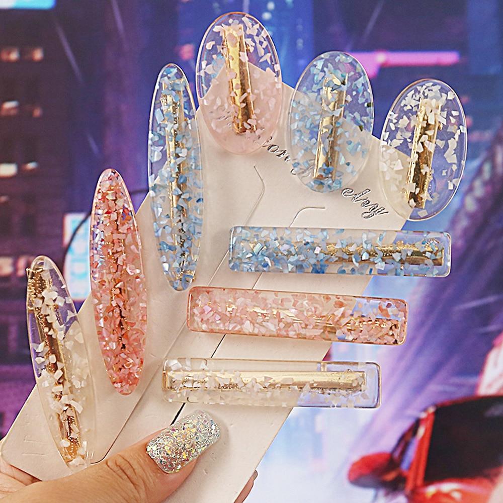 Korea Fashion Solid Acetate Hair Clips For Women Girls Hair Barrette Hairpins Trendy Headwear Hair Styling Accessories