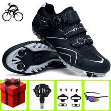 Zapatos de Ciclismo para hombre, zapatillas deportivas para Ciclismo de montaña, SPD, deportes de bicicleta, adiestramiento al aire libre