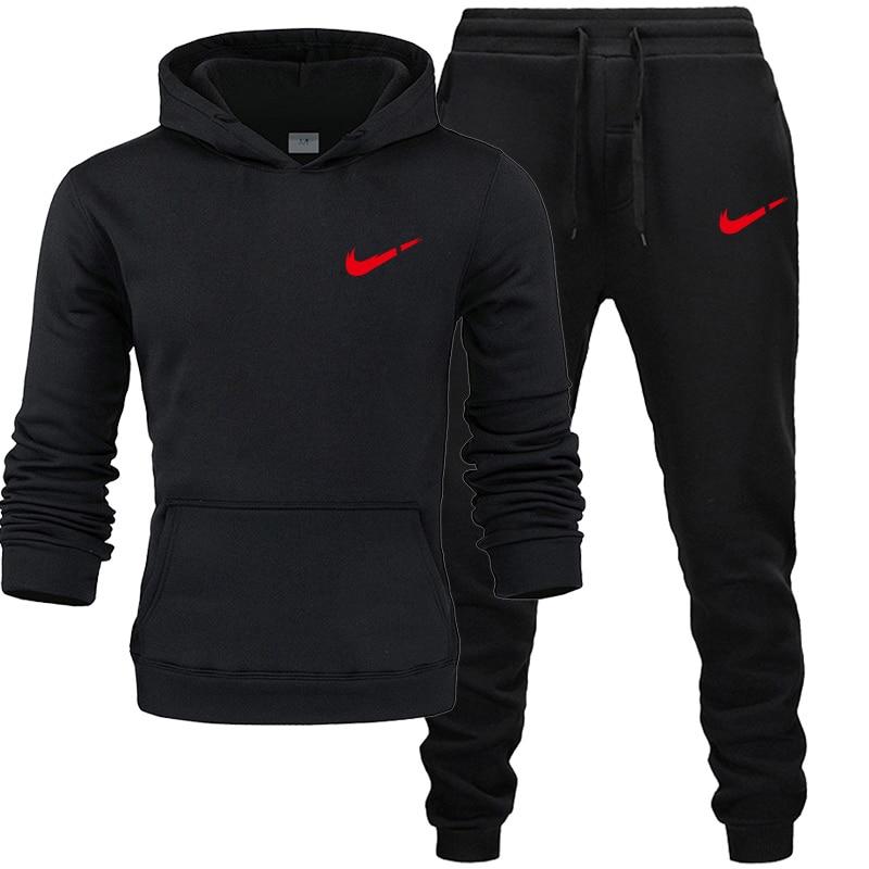 New 2019 Sport Suit Hoodie Batman Hooded Men Casual Cotton Fall / Winter Warm Sweatshirts Men's Casual Tracksuit Suit