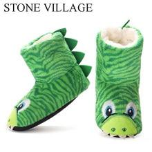 Детские тапочки-тапочки для мальчиков и девочек, милые мягкие теплые домашние тапочки с плюшевой подкладкой, Нескользящие зимние носки для обуви для детей 2-7 лет