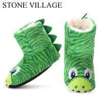 Venda quente crianças meninas meninos chinelos de assoalho animal bonito macio quente forro de pelúcia non-slip casa sapatos de inverno botas meias 2-7year old