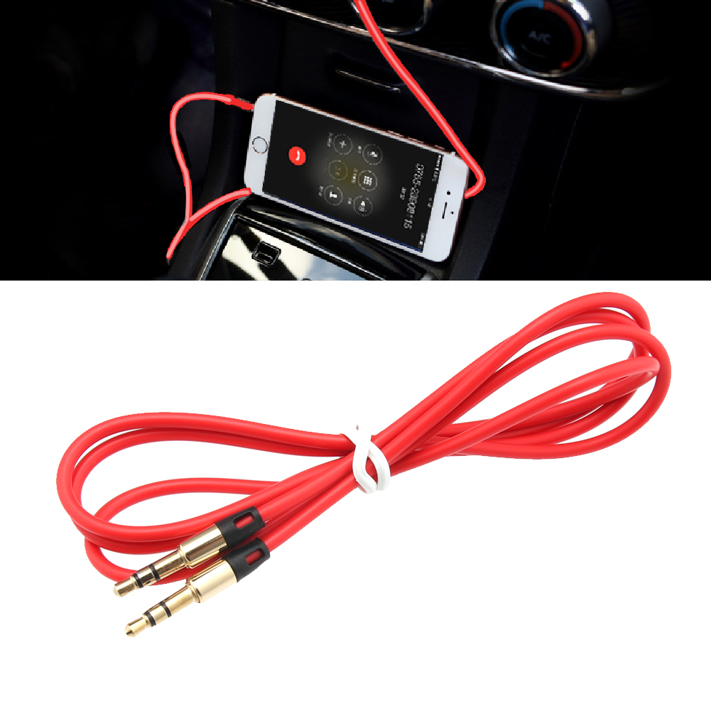 2016 Top quality 3.5mm Car Male to M AUX AUXILIARY sound Stereo Audio Data Cable MP3 Au 04 for Phone iPod P9B1 image