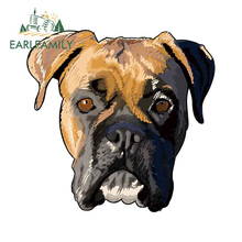 EARLFAMILY 13cm x 12.7cm For Boxer Dog Vinyl Car Stickers Repair Decal Windshield Waterproof Creative Custom Printing