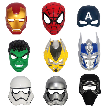 цена Hero Cosplay Hulk Iron Man  Captain America Superhero Spiderman Hulk Batman Masks Halloween Party Christmas LED  Mask онлайн в 2017 году